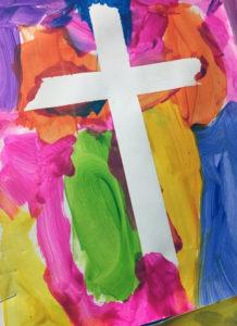 Cross in watercolor